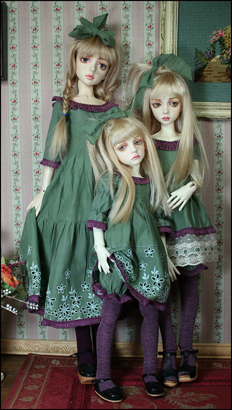 My three sweeties in modeling the new dresses